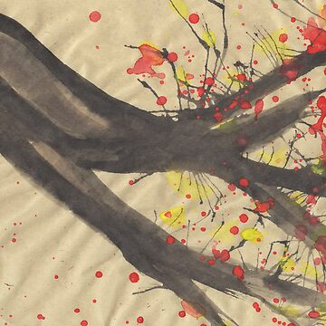 Splatter Blossoms II by Sammyzilla