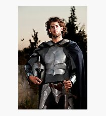 A knight in shining armour  Photographic Print