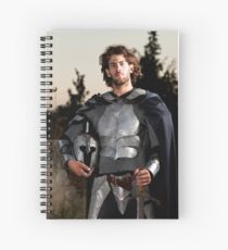 A knight in shining armour  Spiral Notebook