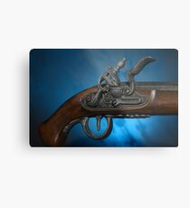 ancient flintlock pistol Metal Print