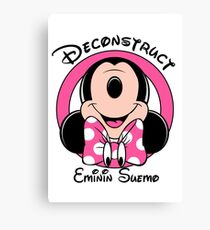 Deconstructed Minnie Canvas Print