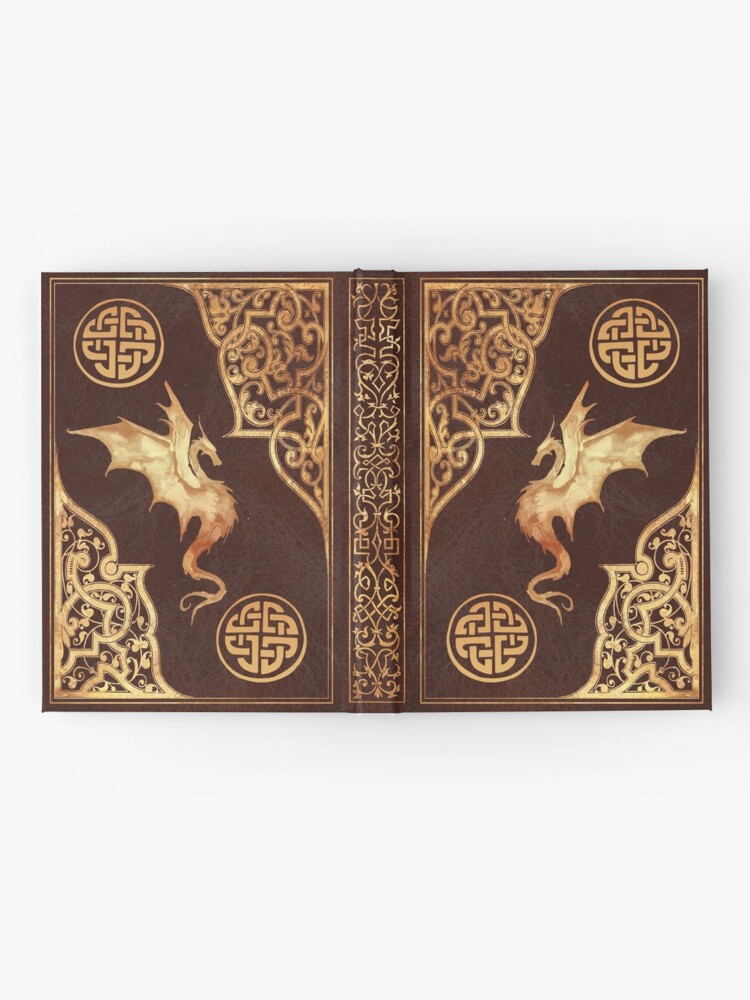 Alternate view of Old dragon fantasy book red Hardcover Journal