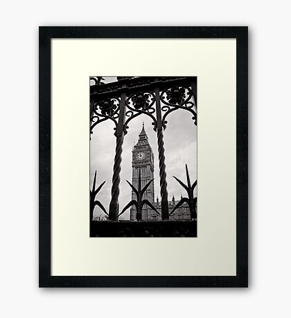 Keeping good time - Big Ben  - London - Britain Framed Print