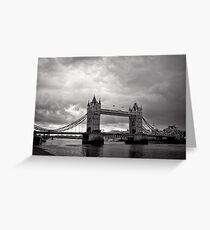 A brewing storm - Tower Bridge - London - Britain Greeting Card