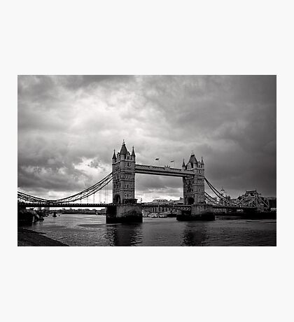 A brewing storm - Tower Bridge - London - Britain Photographic Print