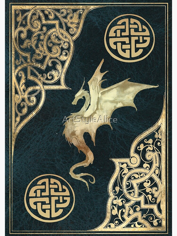 Old dragon fantasy book blue by ArtStyleAlice