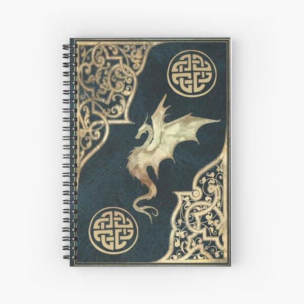 Altes Drache Fantasie Buch blau Spiralblock