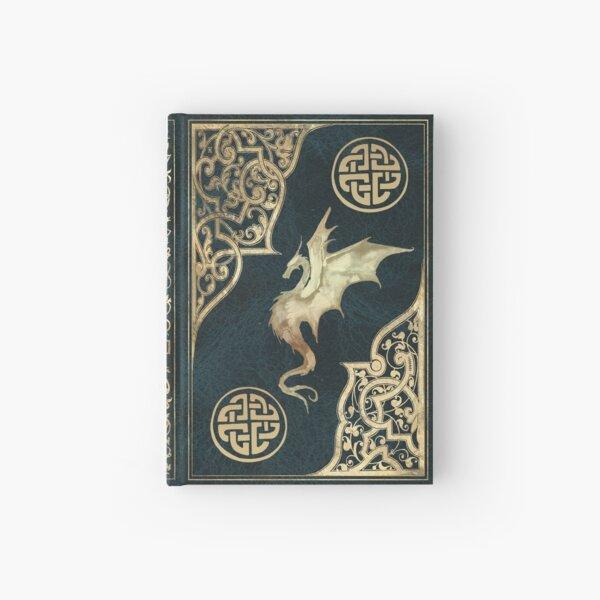 Altes Drache Fantasie Buch blau Notizbuch