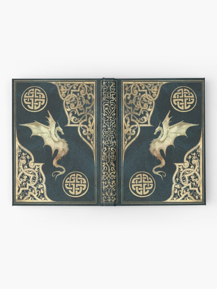 Alternate view of Old dragon fantasy book blue Hardcover Journal