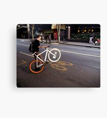 Street Bikes Canvas Print
