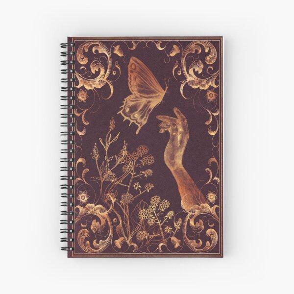 Magisches Schmetterling Vintage Buch Spiralblock