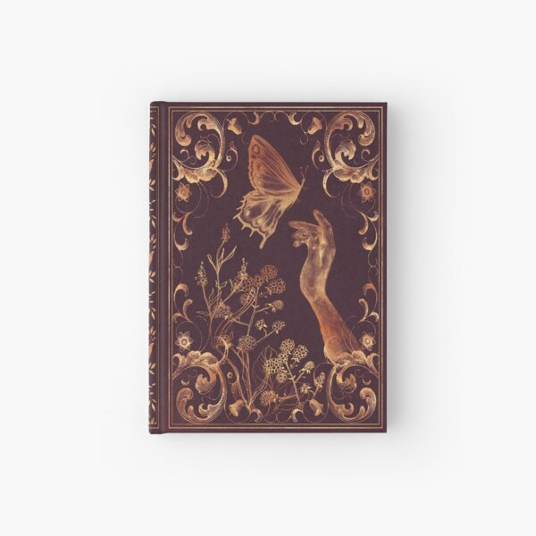 Magical butterfly vintage book Hardcover Journal