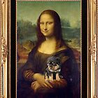 Mona Lisa Nursing Her Rottweiler Puppy by taiche