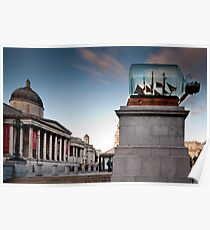 The Fourth Plinth - impossible bottle Poster