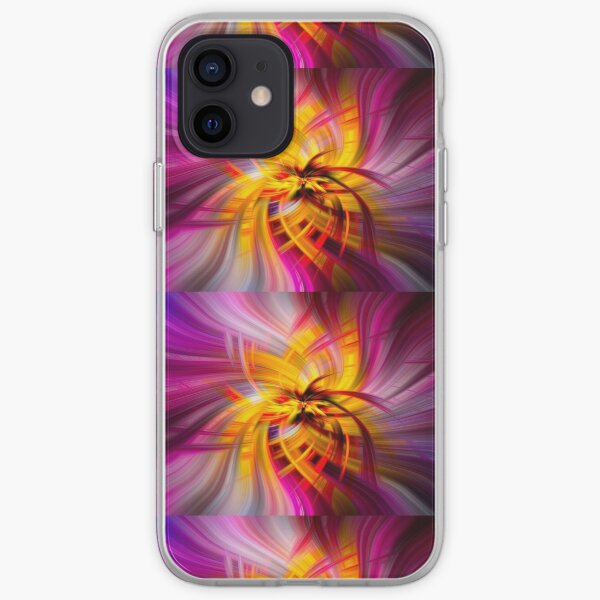 Abstract Swirl Violet Yellow Tube Sponge  - Mixed Media DiveArt iPhone Soft Case
