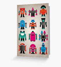 Robots Greeting Card