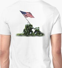 American War Flag, USA, Raising the Colours, Iwo Jima, America, Americana, WW2, WWII Unisex T-Shirt