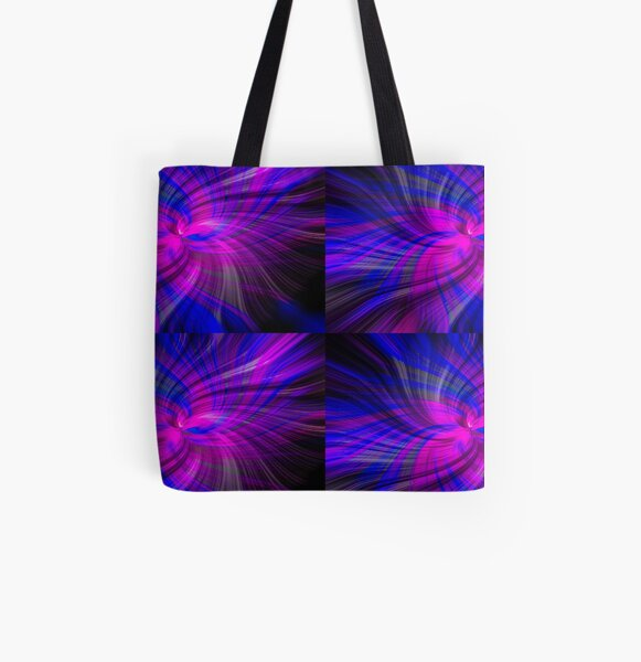 Abstract Swirl Giant Clam Pink Violet  - Mixed Media DiveArt All Over Print Tote Bag