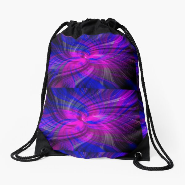 Abstract Swirl Giant Clam Pink Violet  - Mixed Media DiveArt Drawstring Bag