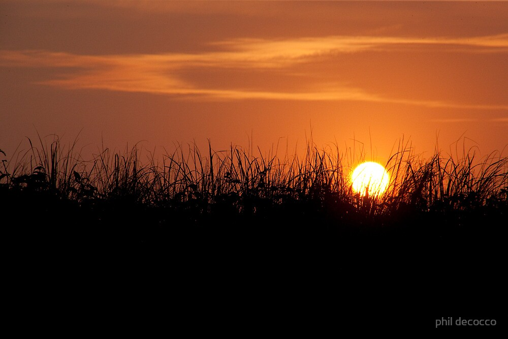 Sunset Over The Dunes by phil decocco