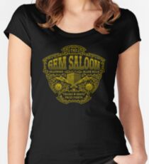 The Gem Saloon  Women's Fitted Scoop T-Shirt