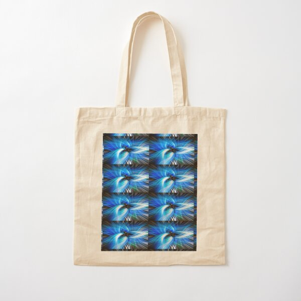 Abstract Swirl Turtle In Blue  - Mixed Media DiveArt Cotton Tote Bag