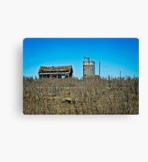 abandoned rural farm homestead Canvas Print