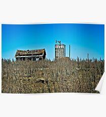 abandoned rural farm homestead Poster