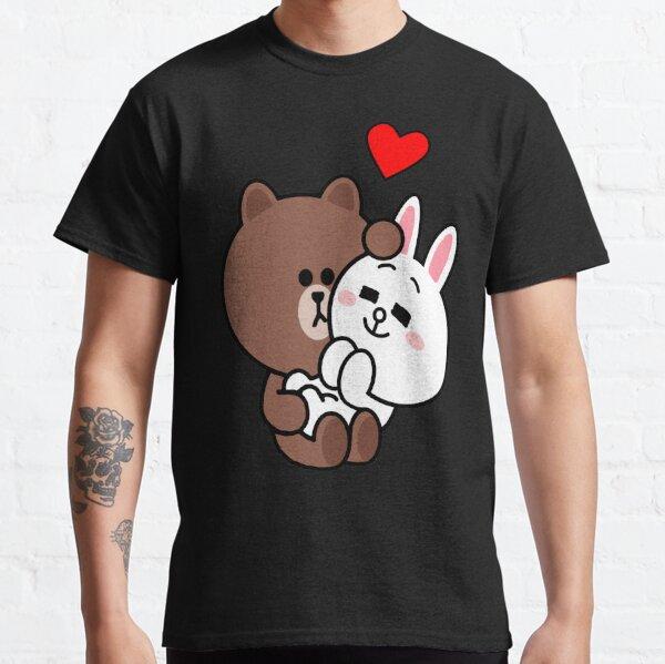 Braunbär cony Häschen Kaninchen lieben mich zart Classic T-Shirt