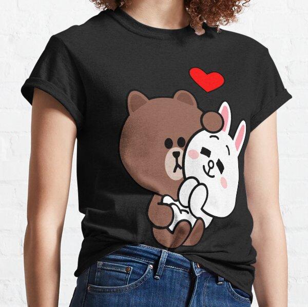 Oso pardo cony conejito conejo amame tierna Camiseta clásica