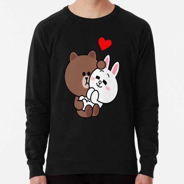 Brown bear cony bunny rabbit love me tender Lightweight Sweatshirt