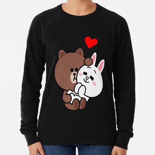 Ours brun lapin lapin lapin aime moi tendre Sweatshirt léger