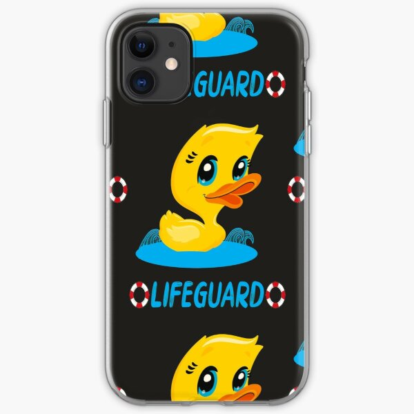 Lifeguard with the rubber duck iPhone Soft Case