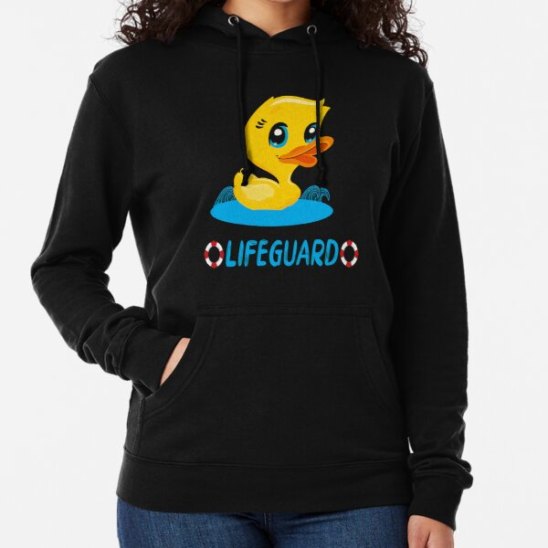 Lifeguard with the rubber duck Lightweight Hoodie