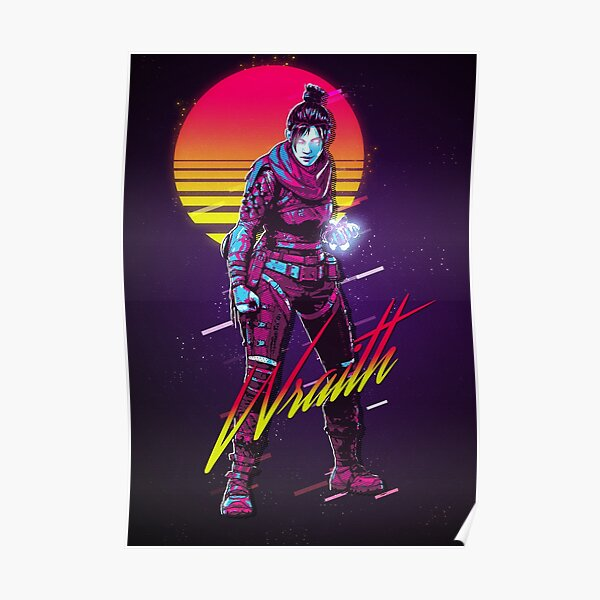 Apex Legends - Wraith 80s Retro Poster