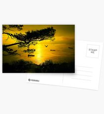 Golden Sunset Gibraltar Postcards
