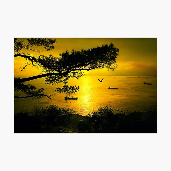 Golden Sunset Gibraltar Photographic Print