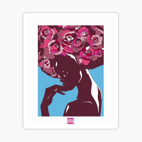 Bouquet de cheveux Sticker