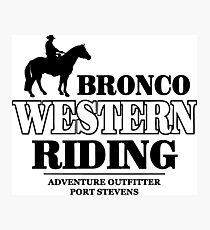 Western Riding Photographic Print
