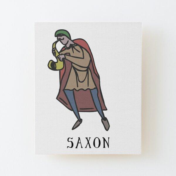 Thy Sax Saxon Wood Mounted Print
