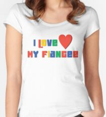 "Engaged ""I Love My Fiancee"" Women's Fitted Scoop T-Shirt"