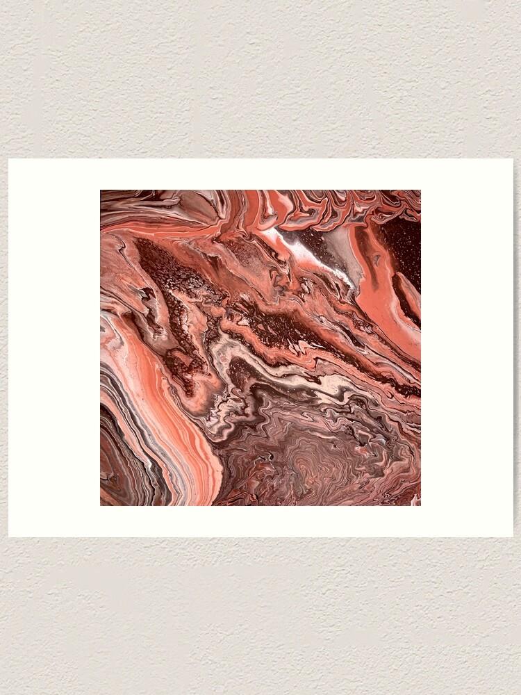 Alternate view of Rose Gold Ravine Art Print