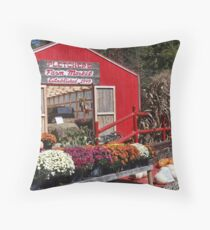 Roadside Farm Market Throw Pillow