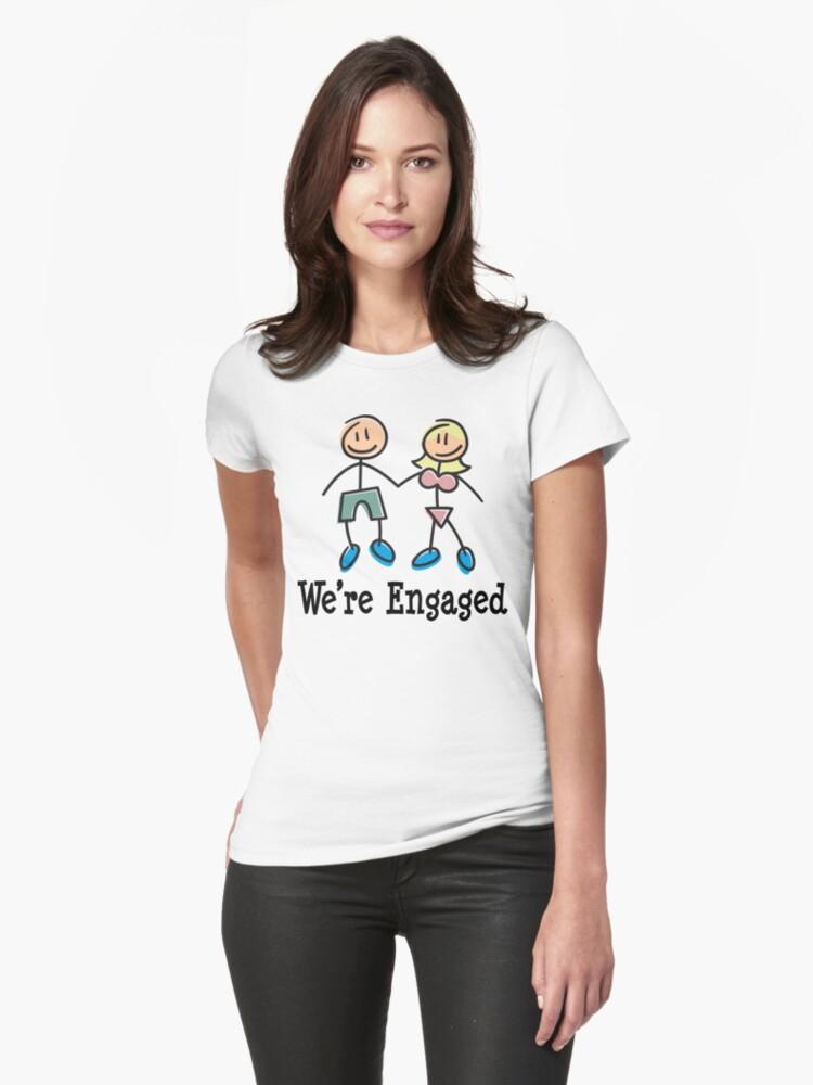 "Engagement Engaged ""We're Engaged"" by FamilyT-Shirts"