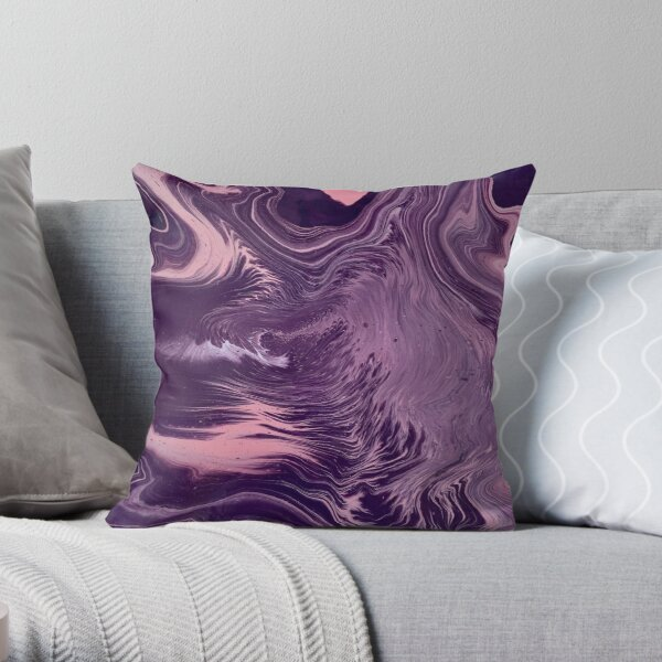Satin Mirage Throw Pillow