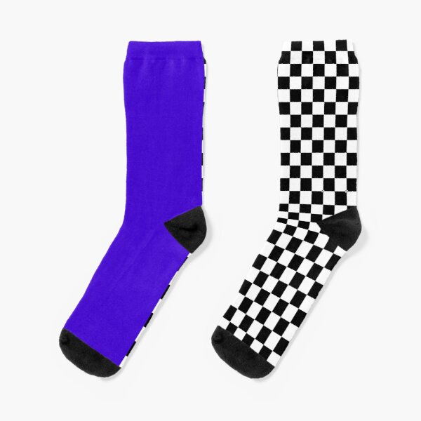 Colour blocking with mod check Socks