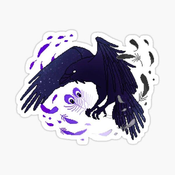 Asexual Pride Galaxy Raven Sticker