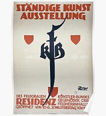 Ständige Kunst Ausstellung des Feldgrauen Künstler Bundes 1319 Poster