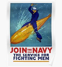 Join The Navy -- The Service For Fighting Men Poster