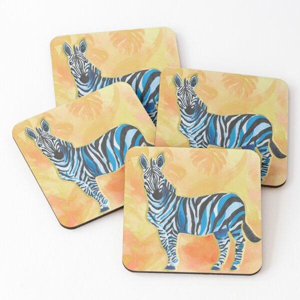 Zebra Sunset Coasters (Set of 4)